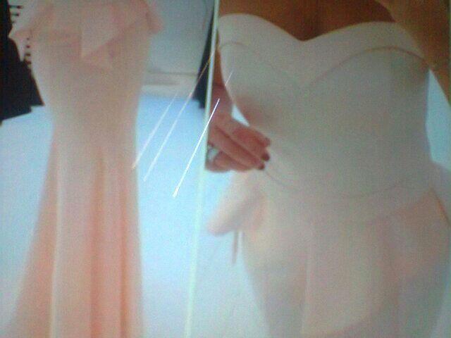 Strapless satin Sweetheart  neckline peplum evening dress light pink