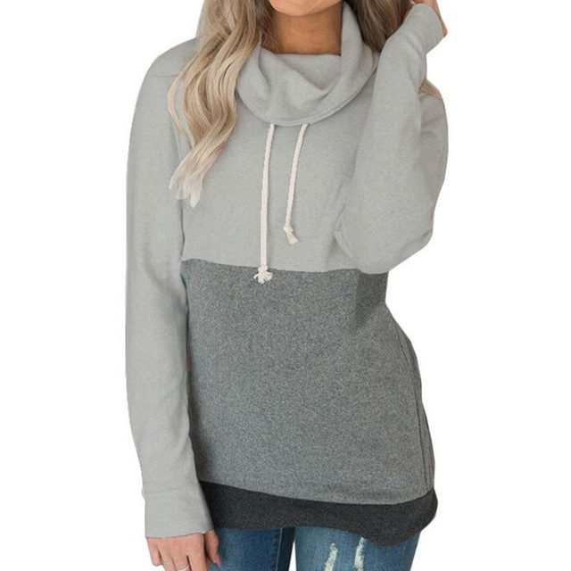a9b495a5bc8 Oversized Harajuku Hooded Sweatshirt Hoodies Autumn 2018 Women Streetwear  Color Block Hoodie Woman Kpop Clothes Moletom Feminino