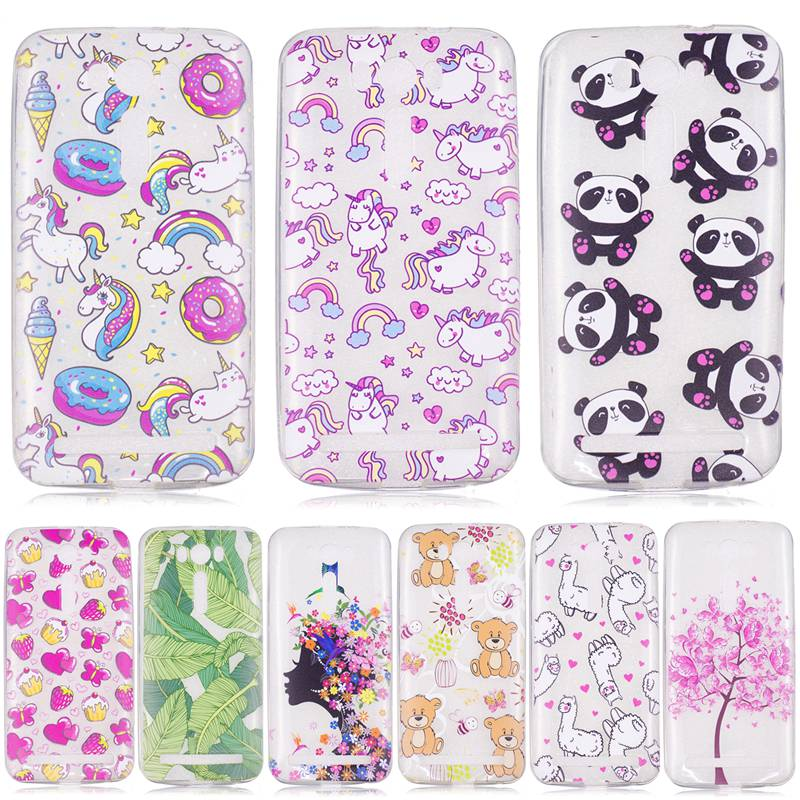 For ASUS Zenfon <font><b>2</b></font> Laser Z00ED ZE500KL <font><b>ZE</b></font> <font><b>500KL</b></font> 500 ZE500 Case Colorful Printing Drawing Transparent Silicone Phone Cases Cover image