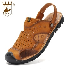 Handmade Beach Sandals Men Genuine Leather Non-Slip Summer Shoes AA50126