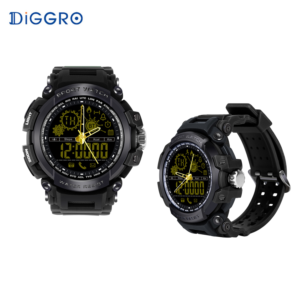 все цены на Diggro DI10 Smart Sport Watch IP68 Waterproof Pedomete Long Standby Time Bluetooth 4.0 Smart 1.21 inch watch for IOS Android