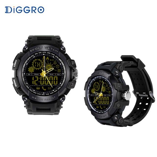 mieux prix le plus bas personnalisé € 20.02 30% de réduction Diggro DI10 montre de Sport intelligente IP68  étanche Pedomete longue durée de veille Bluetooth 4.0 Smart 1.21 pouces  montre ...