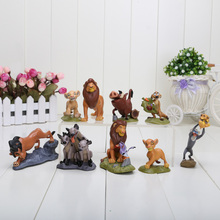 9pcs/lot 5~9CM High The Lion King Animals PVC Cartoon Anime Figures Model Toys