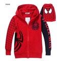 Novo Spiderman Meninos Casaco Bordado Com Capuz Meninos Jaqueta Primavera E No Outono Roupas de Bebê de Algodão Dos Desenhos Animados Roupa Dos Miúdos Das Crianças