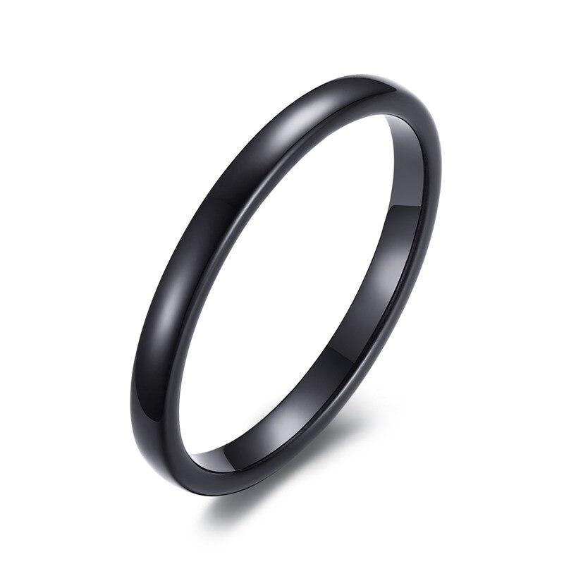 Preferenza 2mm pianura delle donne semplici sottili anelli di nozze in  NB14