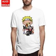 Naruto t shirt For Male Akatsuki Ramen Tee Good T Shirt Round Collar S-6XL Plus Size T-shirt Uzumaki  Tees Casual