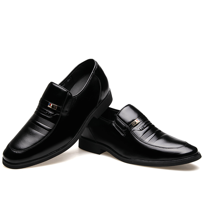 MUHUISEN Mens Height Increasing Shoes Genuine Leather Classic - Men's Shoes - Photo 4