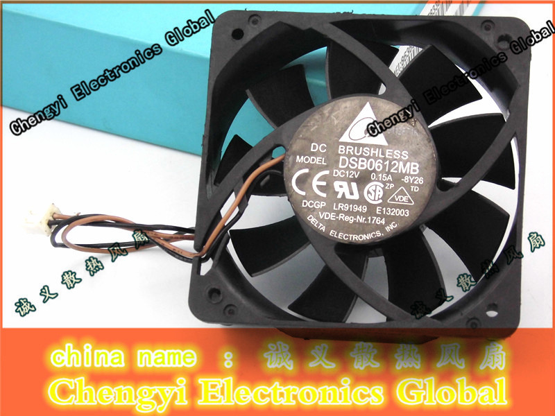 цены на Free Shipping DC12V 0.15A Server Cooling Fan For Delta Electronics DSB0612MB -8y26 Server Square Fan 2-wire 60x60x15mm