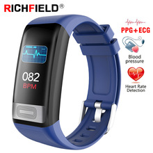 ECG PPG Smart Bracelet Blood pressure Watch Sport SMS Incoming Call Sleep Monitor Smart Band Health Wristband Fitness Tracker hot new brand excelvan sport bluetooth smart bracelet watch sync call sms anti lost health wristband sleep monitor free shipping
