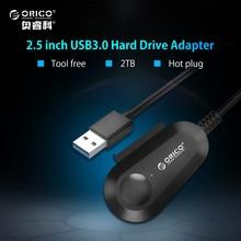 ORICO USB 3.0 SATA адаптер Поддержка SATA 3.0 жесткий диск SSD 7 + 15pin Встроенный 20 см кабель для 2.5 дюймов HDD/SSD hot plug