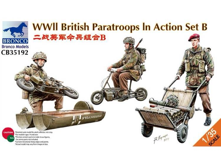 BRONCO CB35192 1 35 WWII British Paratroops In Action Set B
