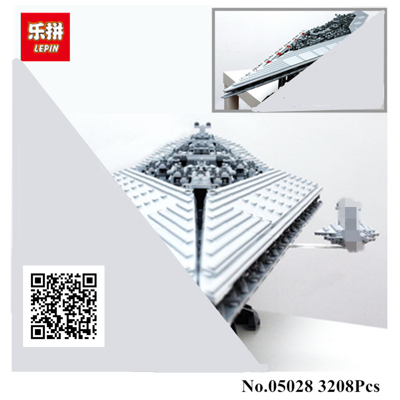 IN STOCK 3208PCS LEPIN 05028  Building Blocks Imperial Star Destroyer Model action wars Bricks Toys Compatible 10221 lepin 05028 3208pcs star wars building blocks imperial star destroyer model action bricks toys compatible legoed 75055