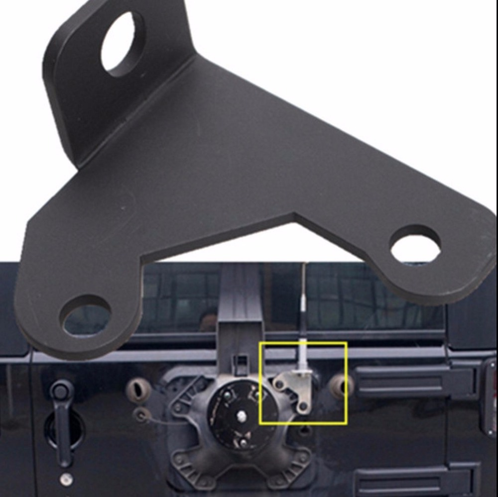 CB antenna mount For Jeep Wrangler Unlimited Rubicon Sahara JK 2/4 Door 2007 2016-in Chromium