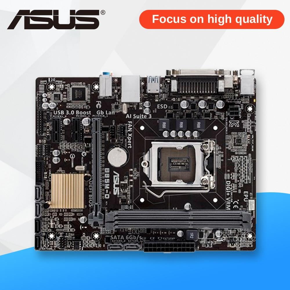 Asus B85M-D Desktop Motherboard B85 Socket LGA 1150 i7 i5 i3 DDR3 16G SATA3 Micro-ATX asrock h61m vg4 original used desktop motherboard h61 socket lga 1155 i3 i5 i7 ddr3 16g usb2 0 micro atx