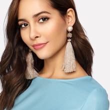 aiboduo Bohemian Earring Long Tassel Drop Earrings For Women Girl 2019 Fashion Geometric Earring Brincos Female Jewelry E00003 цена