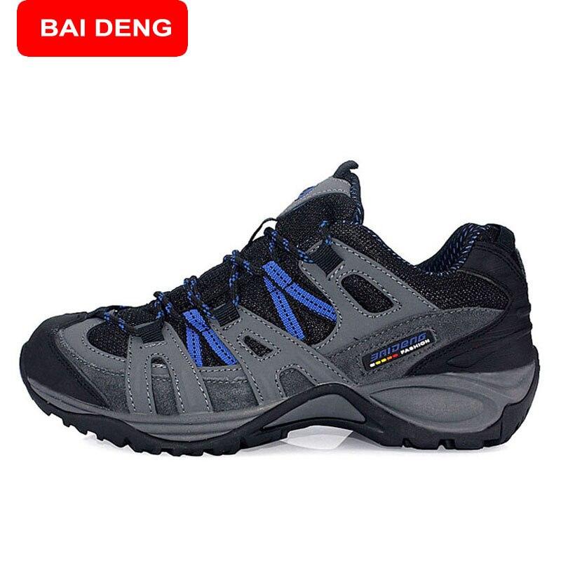 Prix pour Baideng nouveau 2017 sport chaussures hommes trail escalade en plein air marche chaussures hommes de marque respirant chaussures de randonnée 8083