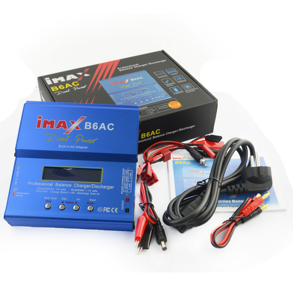 iMAX B6AC 80W 6A Dual Power RC Lipo Battery Balance Charger Discharger 50W 5A Optional цены