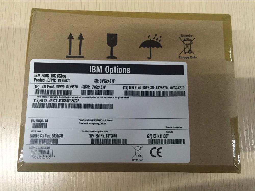 81Y9670 81Y9671 300G 15K SAS 2.5 3650M4 Server Hard Disk one year warranty