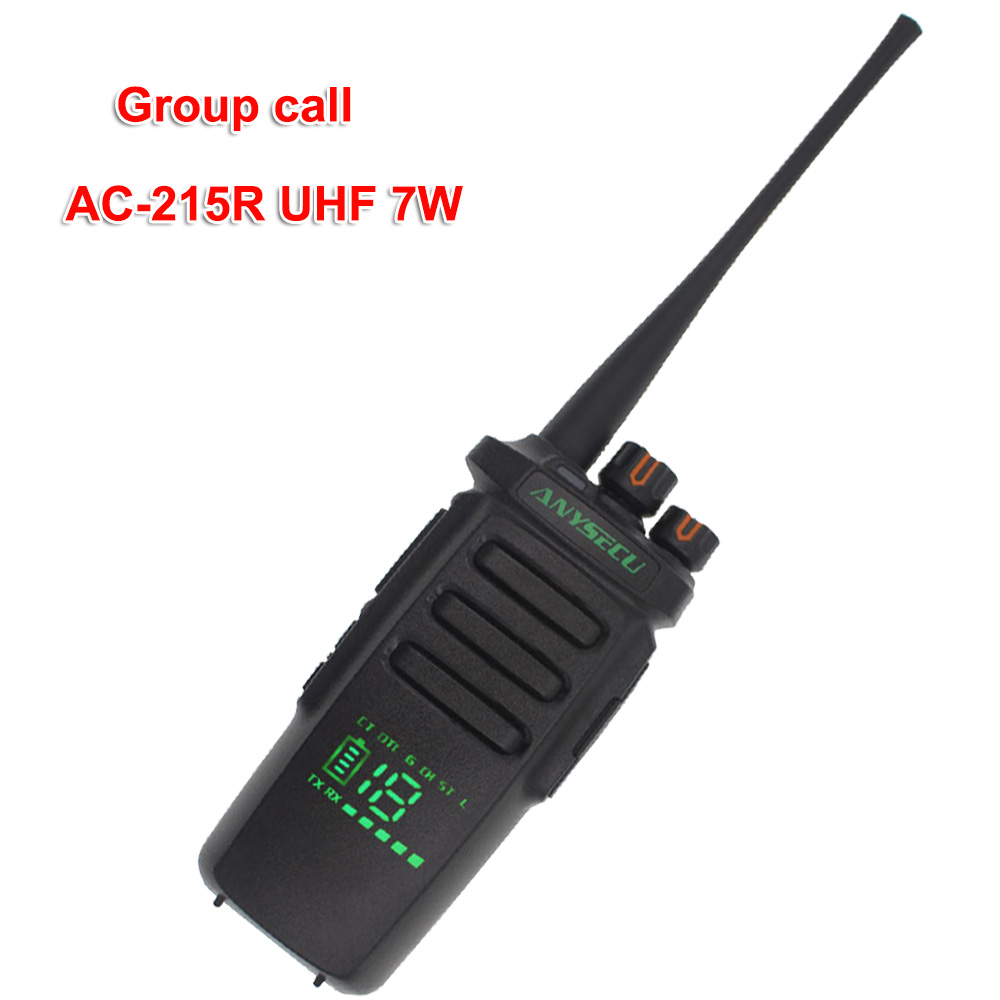 Anysecu AC 215R 7W Radio active view screen Walkie Talkie 400 480MHz Group call Ham Radio