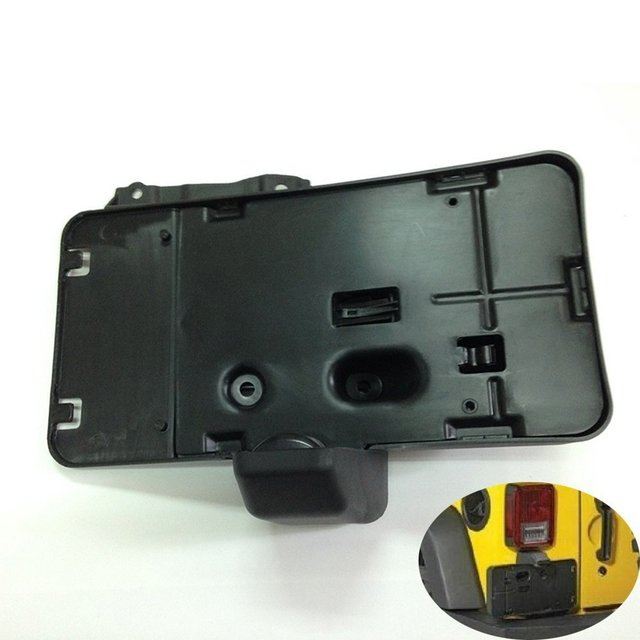 Rear License Plate Holder Plate Frames Bracket Black for 2007-2016 Wrangler Jk J114