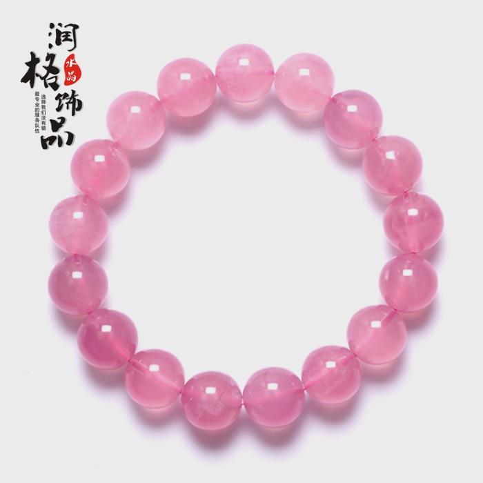 Naturel rose cristal bracelet chanceux rose bracelet en cristal femelle taohuajiangriver