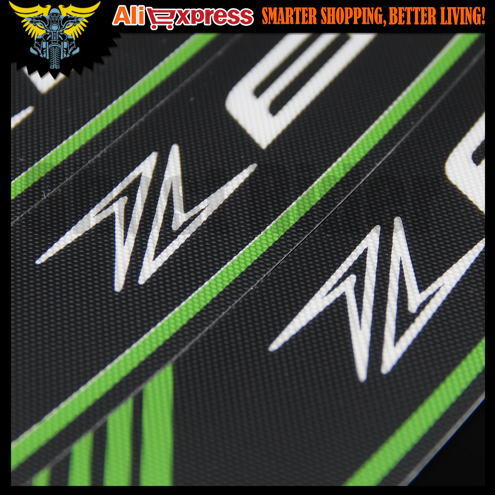 Hot Sales High Quality Motorcycle Rim Strips Z800 Logo Stickers Wheel Decals For Kawasaki Green Color In From Automobiles
