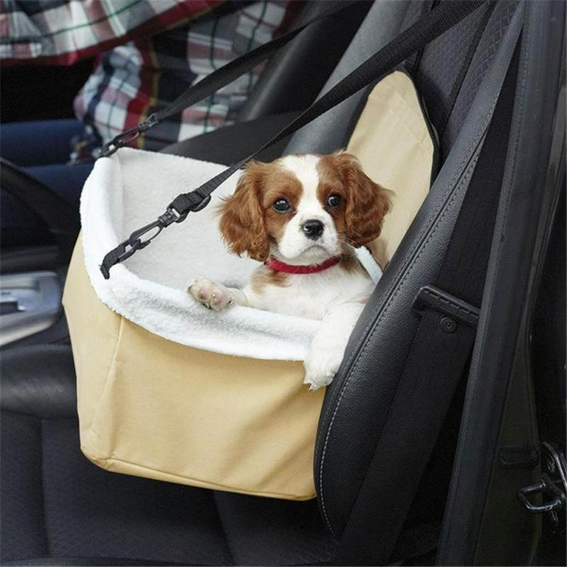 Misterolina Carrying Canvas Bags for Small Dogs Outdoor Travel Pet Car Carrier Dog Car Booster Seat Cover Puppy Protector Basket