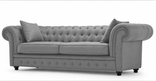 Luxury sofa sets fabric chesterfield sofa modern sofa set for home furniture 3seater(China)