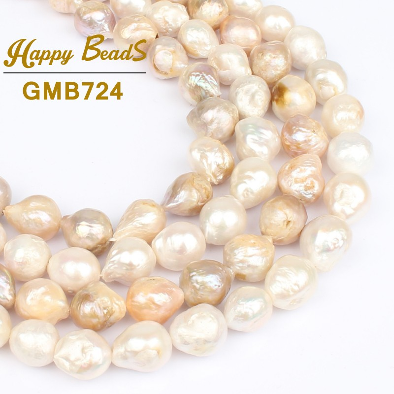 Women Jewelry 11 14mm White Light purple Colors Baroque Pearl Necklace Real Natural Freshwater Pearl For DIY Making Bracelet 15