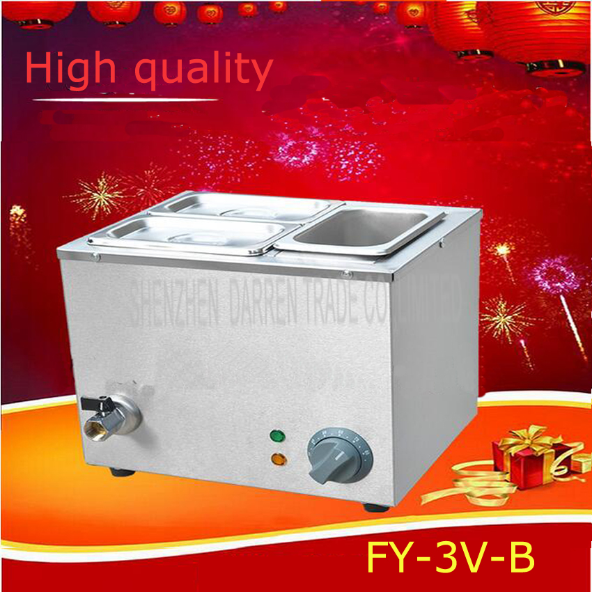 1PC FY-3V-B Hot Sale Three-cylinder Electric Chocolate Fountain Fondue Hot Chocolate Melt Pot melter Machine image