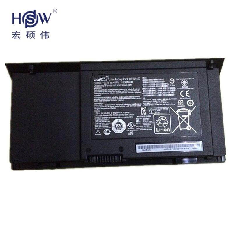 HSW New 11.4V 48Wh  B31N1407 Battery for ASUS B451 B451JA B451JA-1A Series Laptopbateria akku