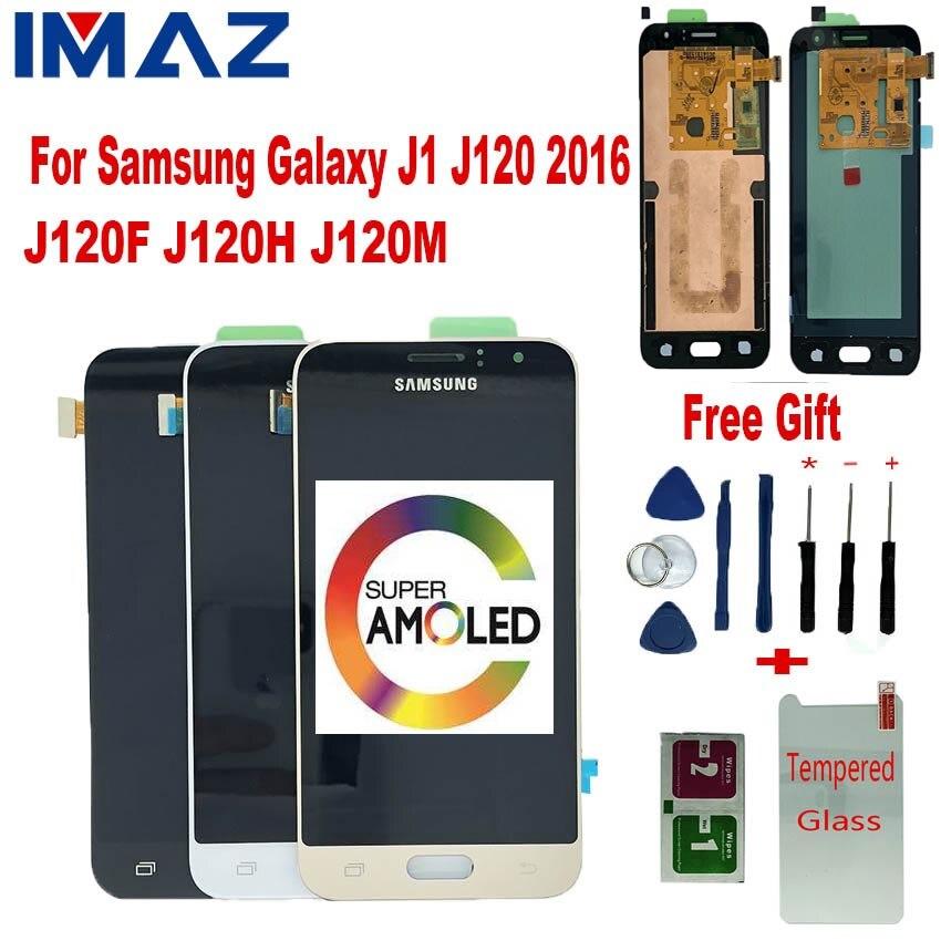 IMAZ Orignal AMOLED LCD pour Samsung Galaxy J1 2016 J120 J120F J120M/H LCD écran tactile numériseur assemblée pour J120A LCD