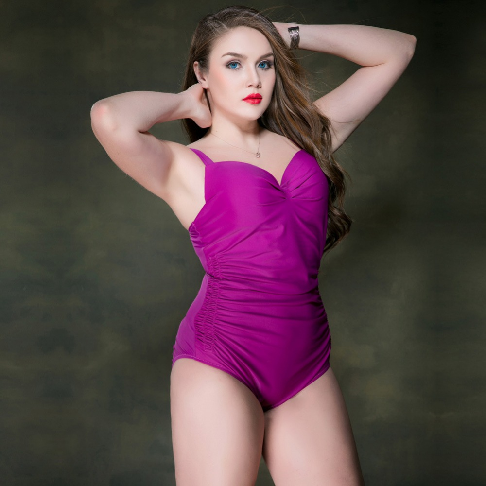 2018 Plus Size Swimwear Women One Piece Swimsuit Push Up Monokini Women Bathing Suit Big Girl Swimming Suit For Women Beach Wear sexy one piece swimsuit plus size swimwear women bathing suit beach wear backless swimsuit monokini