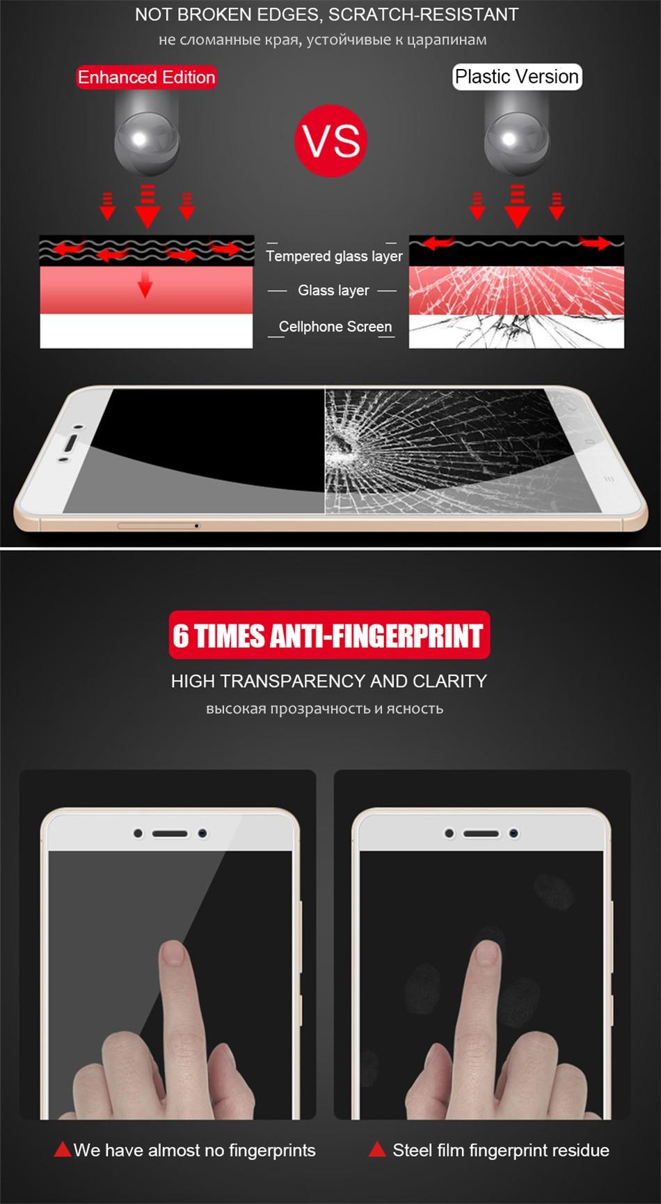MOUSEMI Glass For Xiaomi Redmi 4x 4A Note 4x 9H Ultra Thin Film Protective  Glass For Xiaomi Redmi 4x,