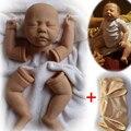 """Неокрашенный Reborn Doll Комплекты (голова, конечности и 20 """"ткань тела) DIY Реалистичные Premie Мальчик Комплект Поставки"""