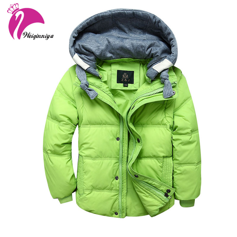 Children Boys Winter Down Coat New 2017 Brand Fashion Hooded Long-sleeves Kids Clothes Casual Thick Parka Warm Outwear Jackets brand fashion new 2016 winter children down