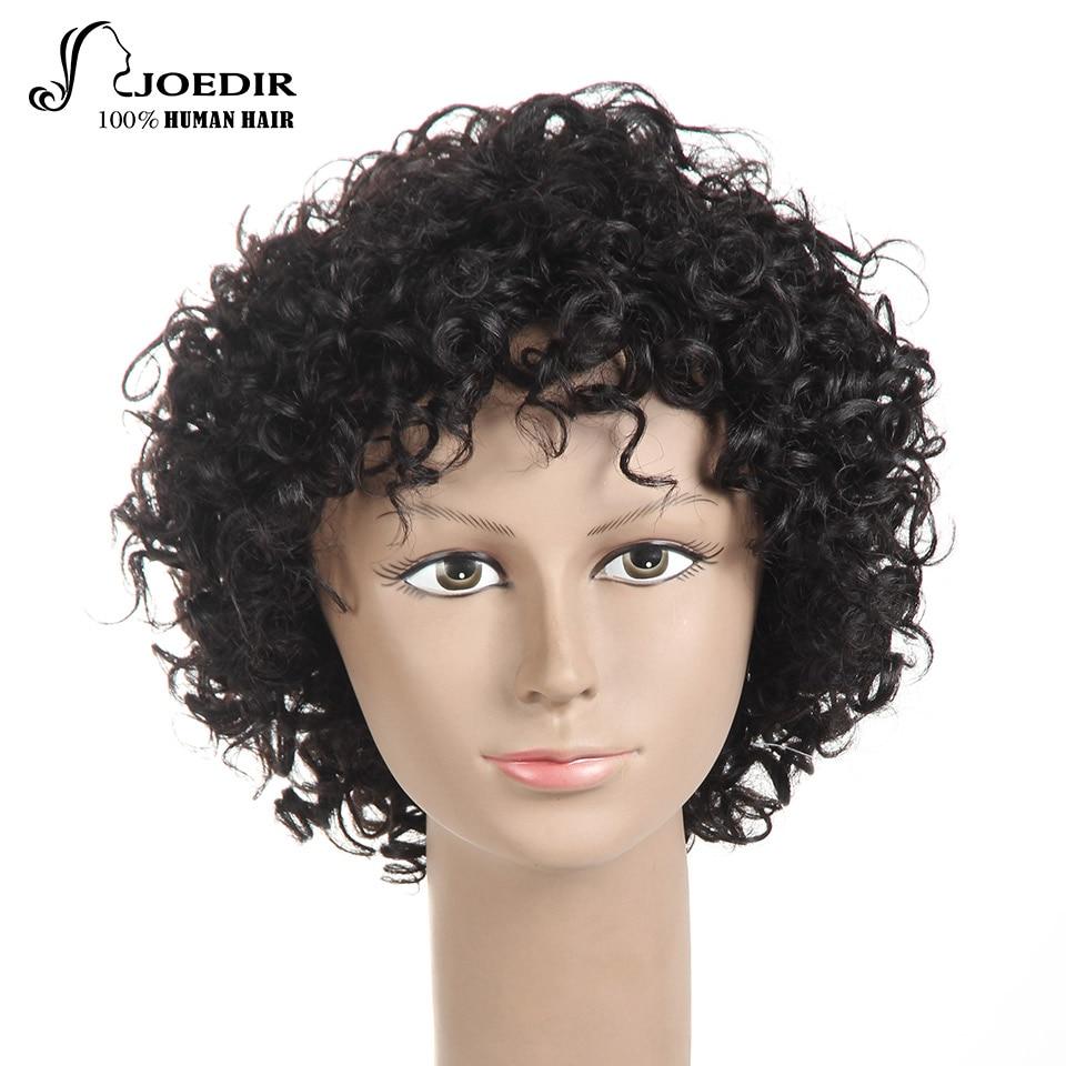 Joedir Short Hair Hair Parys Brasilian Remy Hair Bouncy Curl Style - Skönhet och hälsa