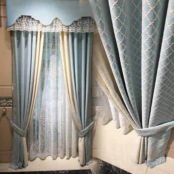 Nuevas cortinas de tela bordadas de algodón y lino cortinas simples ...