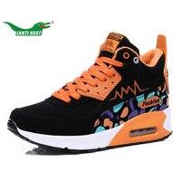 LANTI KAST Women Running Shoes Winter Popular Short Plush Thermal Cushion Sneakers Comfortable Non Slip Sport