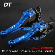 Dla Yamaha DT125LC DT 125 LC MK2 i MK3 1985-1989 1986 1987 motorowe dźwignie hamulcowe motocyklowe składane wysuwane regulowane