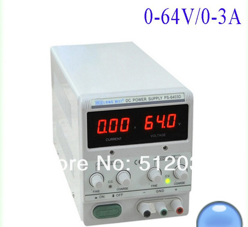 LW  PS-6403D  0-64V/3A digital dc power supply,DC REGULATED