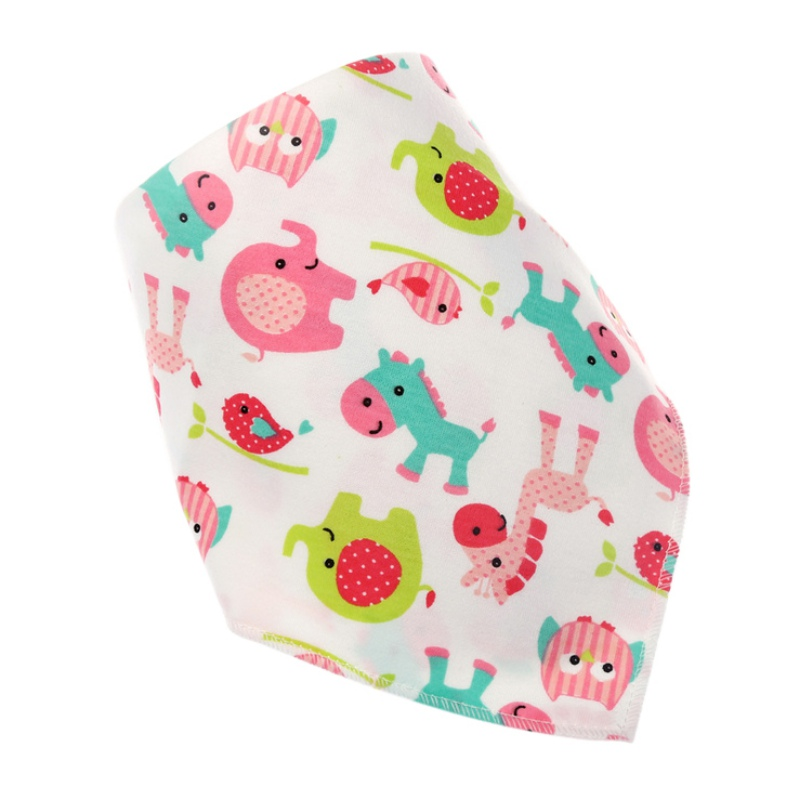 Lovely Newborn Baby Cotton Bib Infant Saliva Towels Baby Accessories Bibs Wear Lovely Cartoon Head Scarf