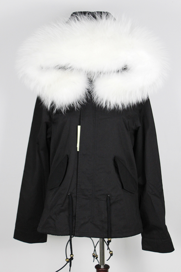 Short Parka Jacket With Fur Hood | Fit Jacket