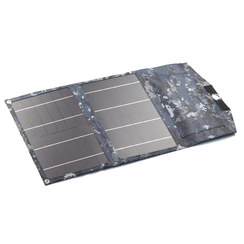 Monocrystalline Solar Folding Kit 6V12W is compatible with charging tablets and other 5V devices