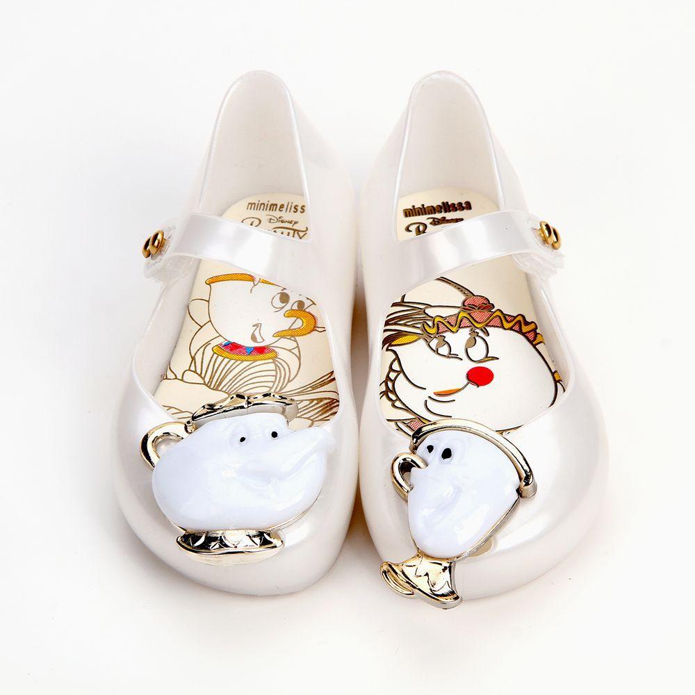 Mini Melissa Arrivals Beauty Beast Jelly Shoes Girls Jelly font b Sandals b font Girls Princess