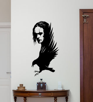 The Crow Wall Decal Brandon Lee Movie Vinyl Sticker Poster Home Decor Art Decorations Living Room Removable Mural E574 guardians of the galaxy vol 2 baby groot 3