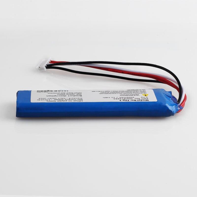 3000mah battery for JBL Flip 4 /Flip 4 Special Edition GSP872693 01  Flip 3  GRAY GSP872693