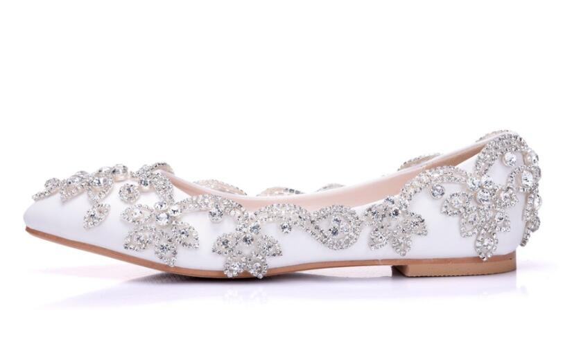 Newest Style Women S Spring And Summer Wedding Shoes White Lace Pearl Wedding Shoes Bride Bridesmaid