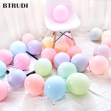 BTRUDI 50 sets 5 inch macarons candy latex balloon set birthday party decoration for adlut wedding celebration supplies