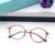 Rodada do vintage Óculos Homens Mulheres óculos de Computador Anti Radiação Azul Lentes de Óculos Sem Aro Limpar Película Transparente de Ouro Fino Masculino Feminino